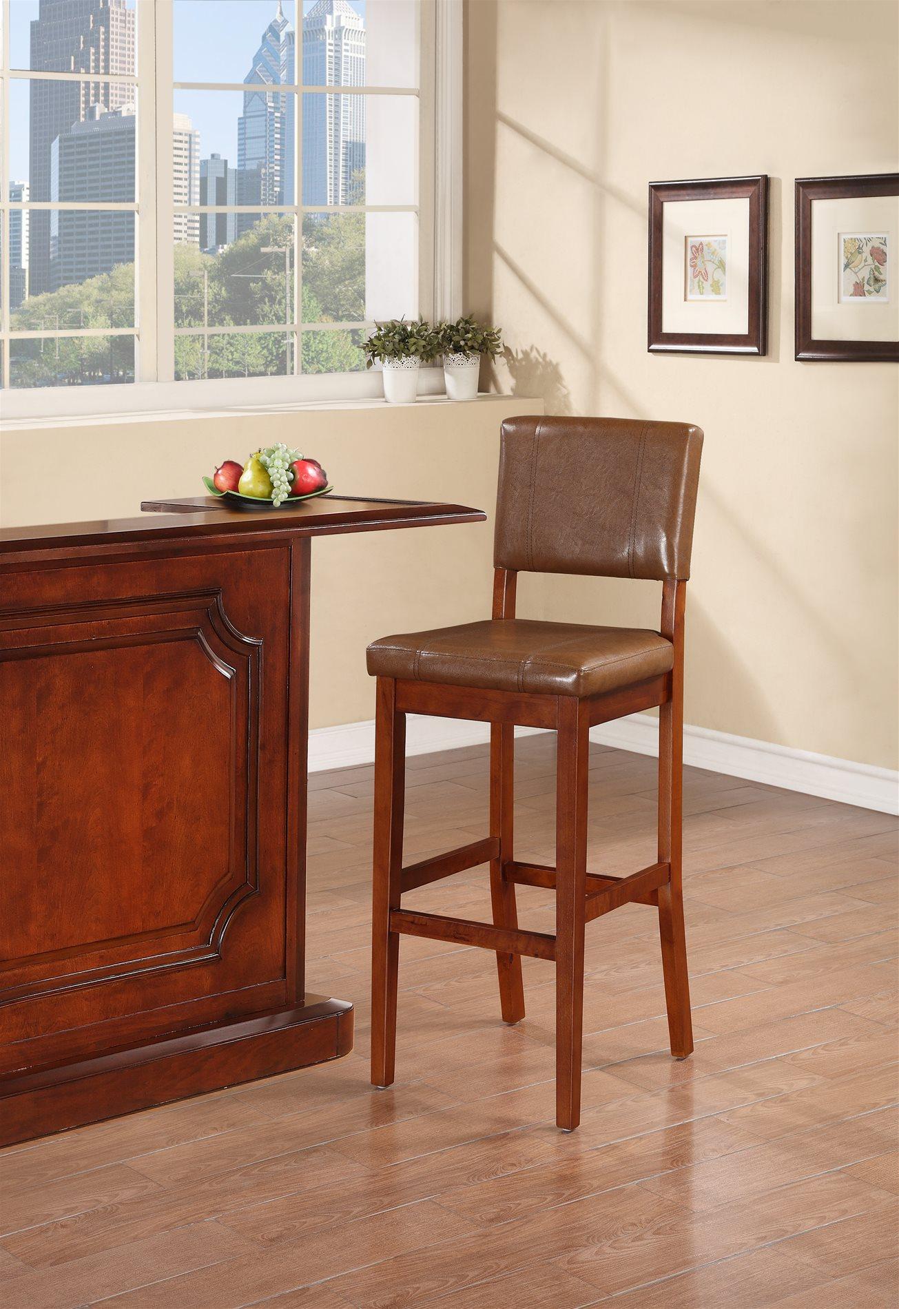 Linon home decor 0211rus01u milano bar stool russet linh for Home decor milano