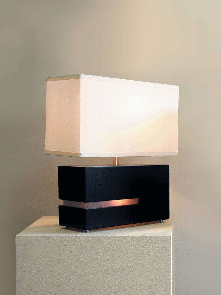 Nova lighting 0284dc zen contemporary reclining table lamp for Zen lighting fixtures