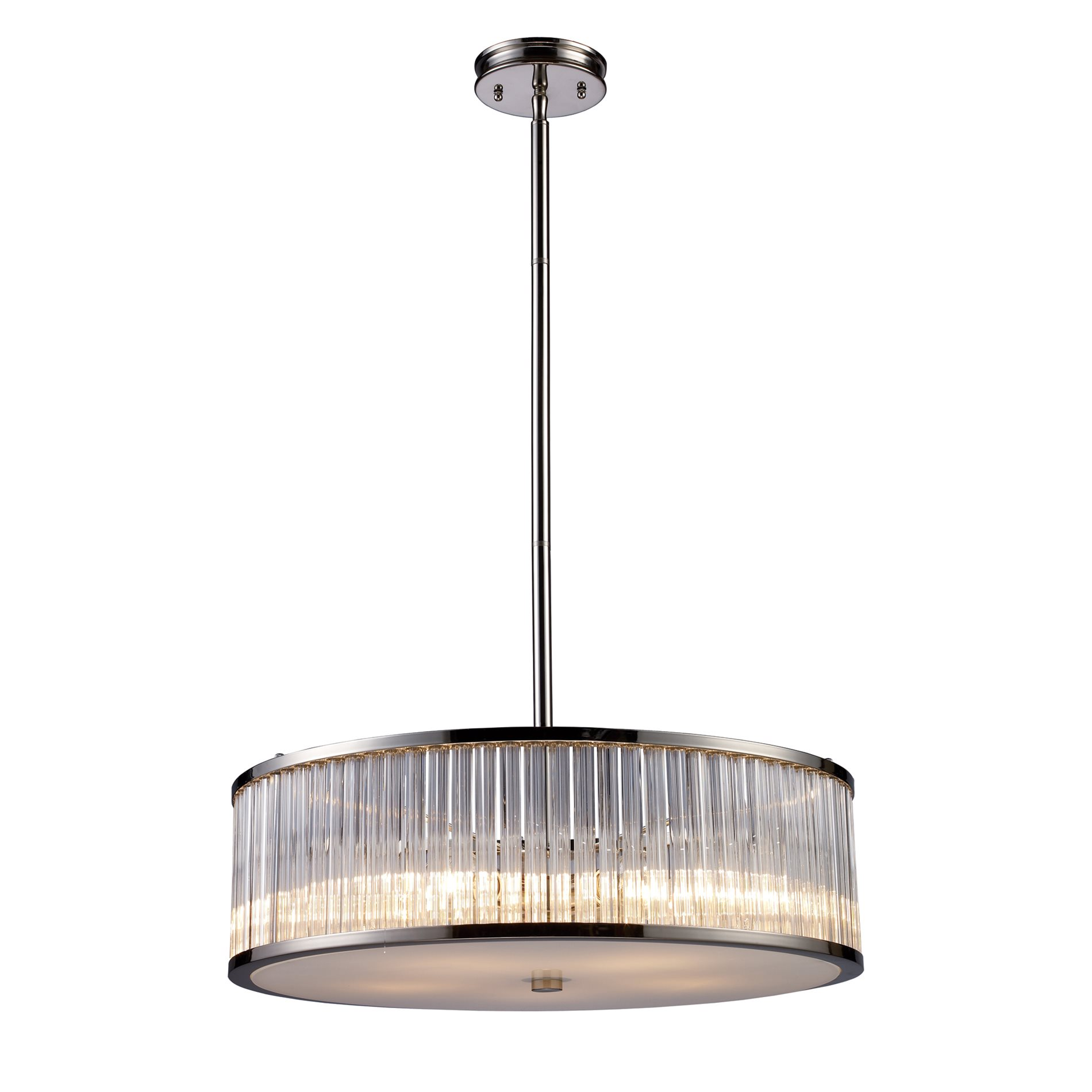 Modern Drum Ceiling Lights : Elk lighting braxton contemporary drum pendant