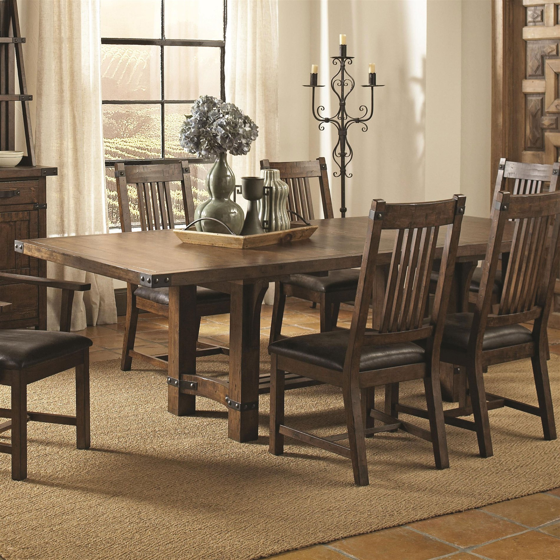 Coaster Home 105701 Padima Rustic Rough-Sawn Dining Table