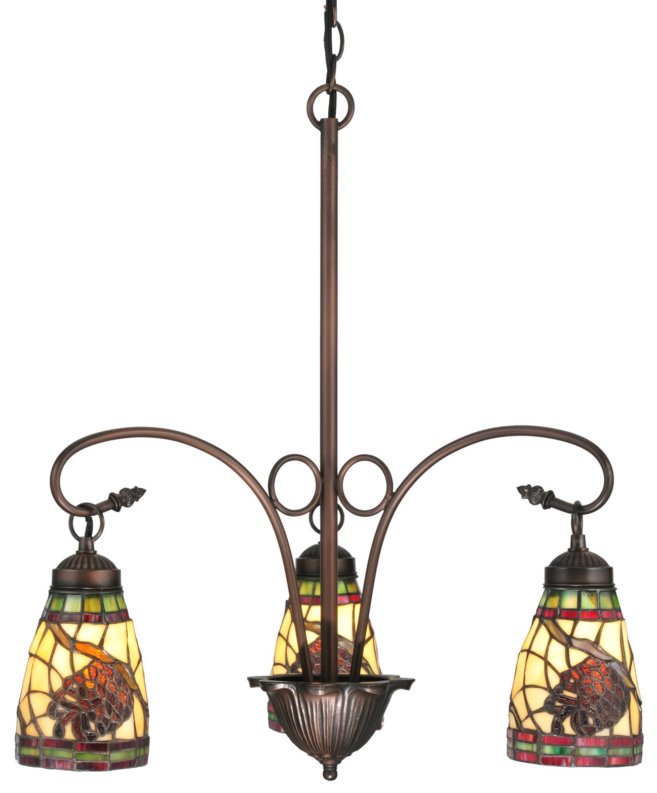 Meyda tiffany 106292 pinecone dome 3 light tiffany chandelier md 106292 zoom aloadofball Image collections