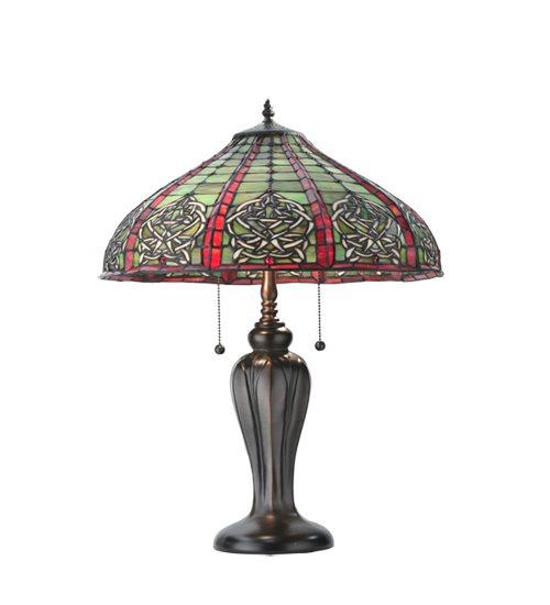 Meyda Tiffany 107804 Dublin Dome Tiffany Table Lamp MD 107804