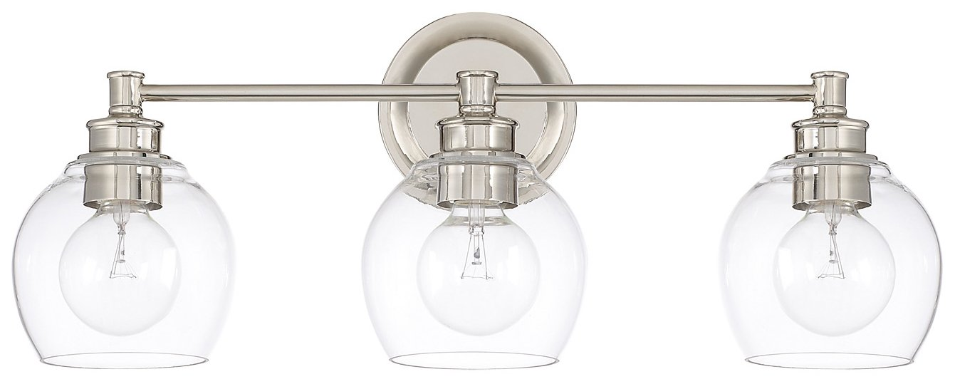 Capital Lighting 121131PN426 Mid Century Modern \/ Contemporary Bathroom \/ Vanity Light CP