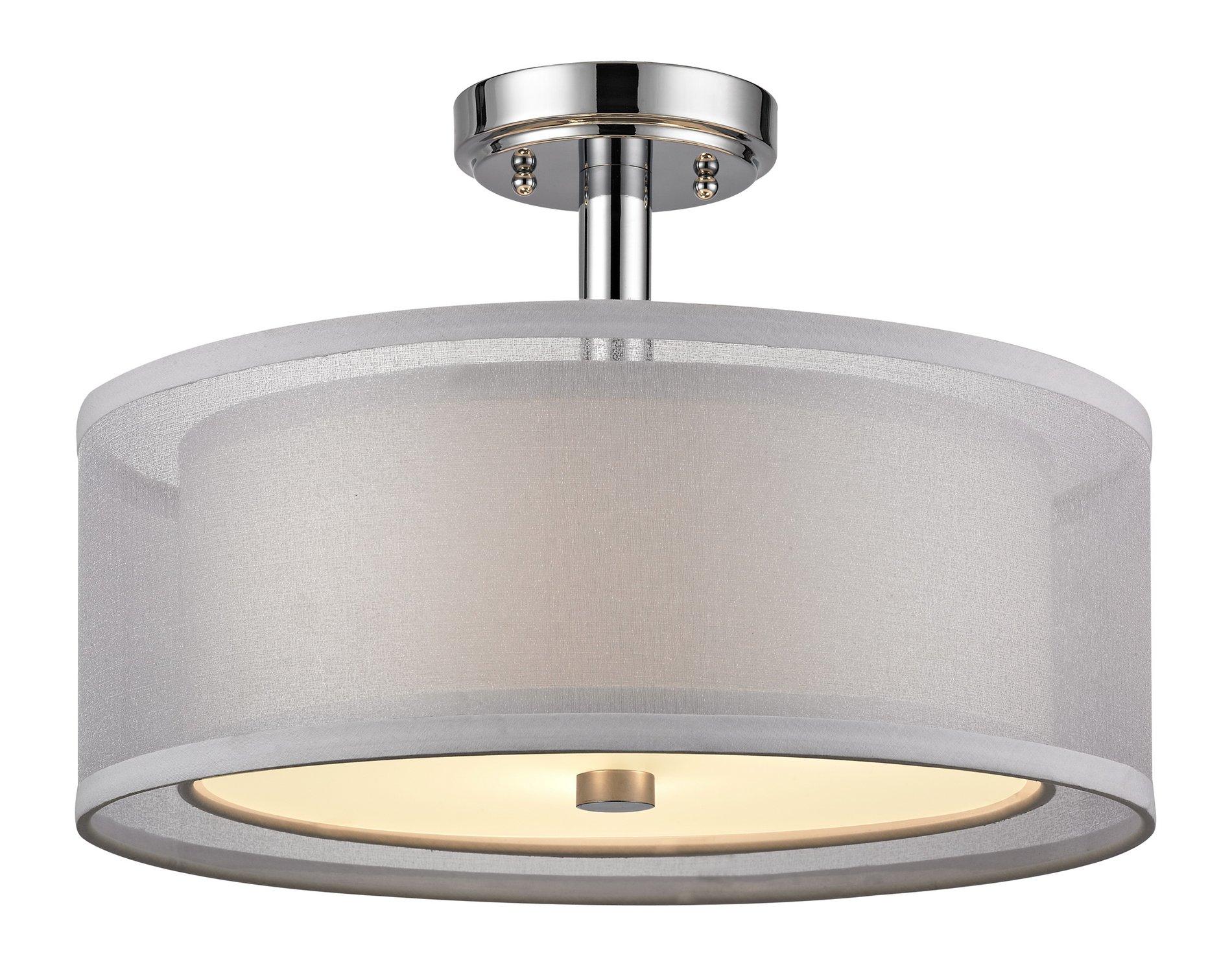 Dolan Design 1275 Double Organza Modern Contemporary Semi Flush Mount Ceili