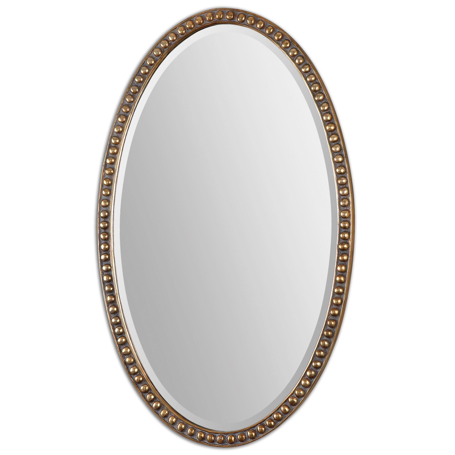 Uttermost 12885 beadel traditional oval mirror um 12885 for Traditional mirror