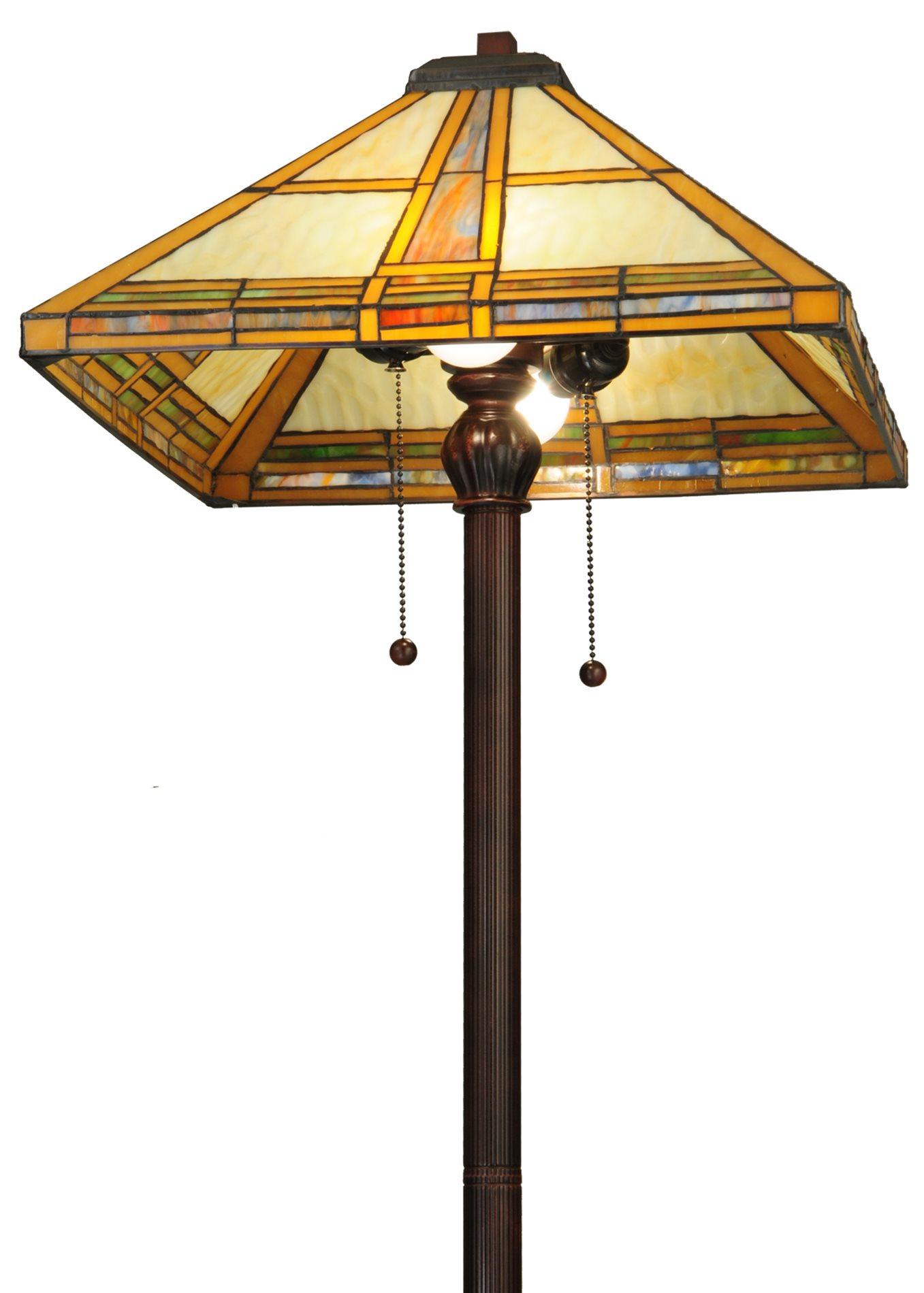 Meyda Tiffany 138769 Prairie Straw Tiffany Floor Lamp Md