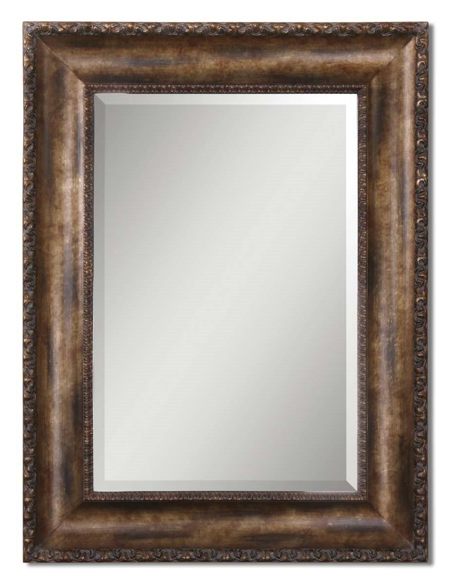 Uttermost 14441 b leola traditional rectangular mirror um for Traditional mirror