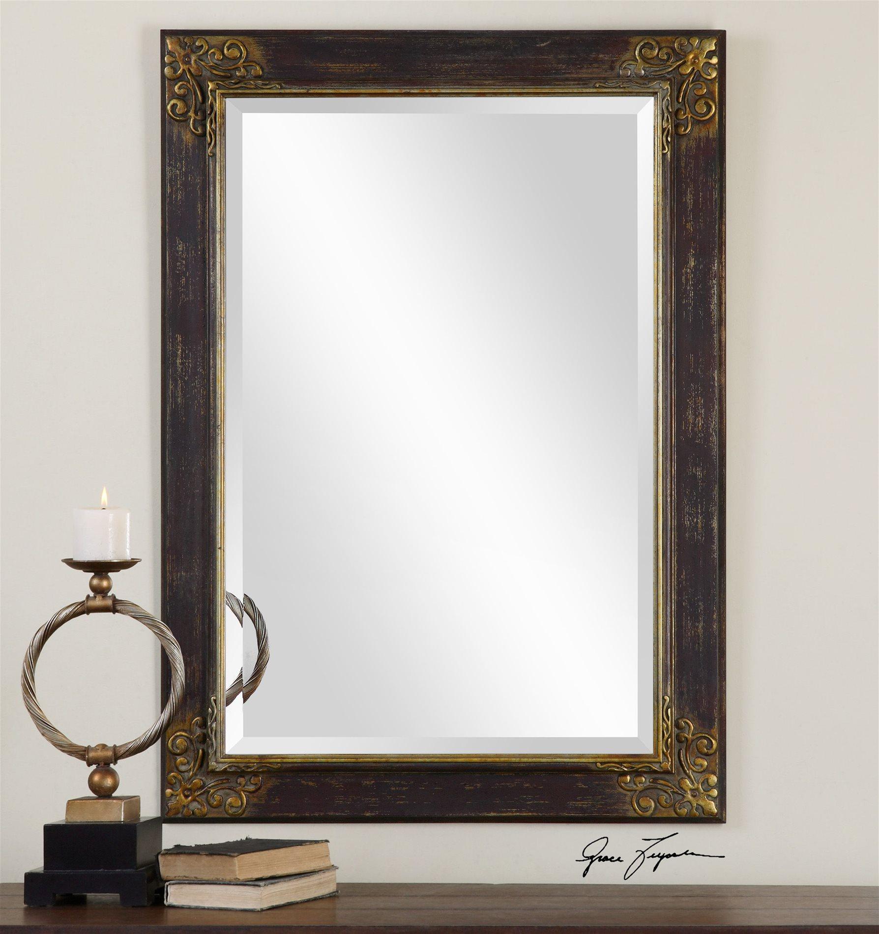 Bronze wall mirrors decorative