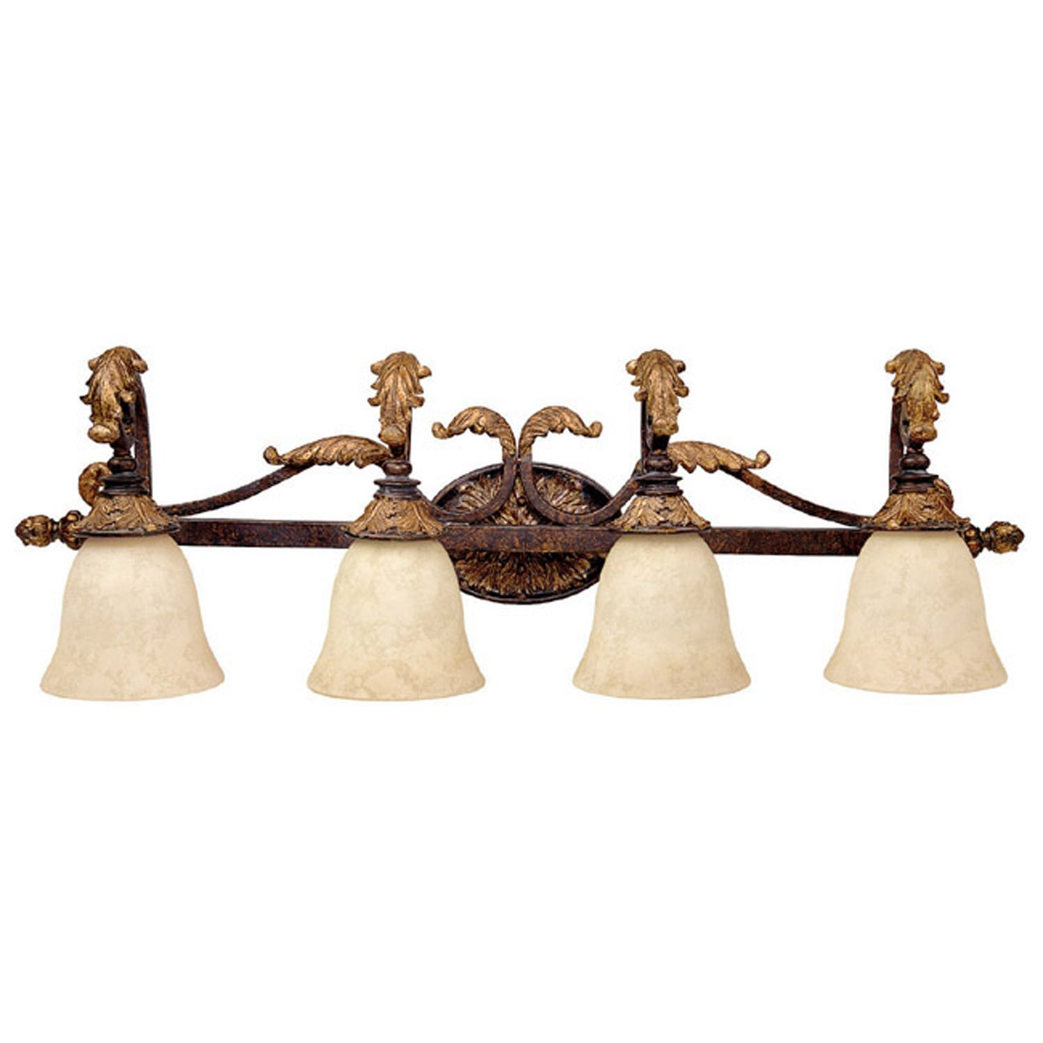 Vanity Lights Gold : Capital Lighting 1474GL-276 Bronze with Gold Leaf Traditional Bathroom / Vanity Light CP-1474-GL-276