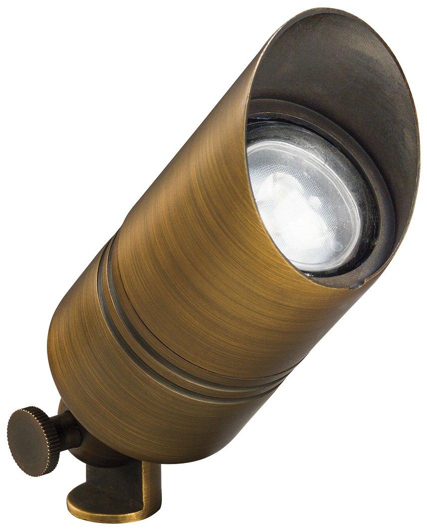 Outdoor Lighting Spotlights For Home Mini Microscope: Kichler Lighting 15475CBR 12V MR16 Brass Mini Outdoor