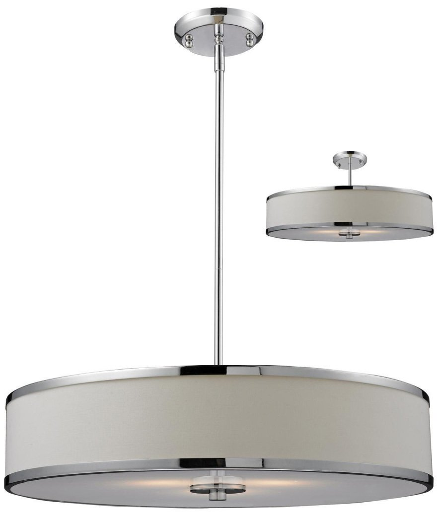 Z lite 164 24 cameo modern contemporary semi flush mount for Semi flush mount lighting modern