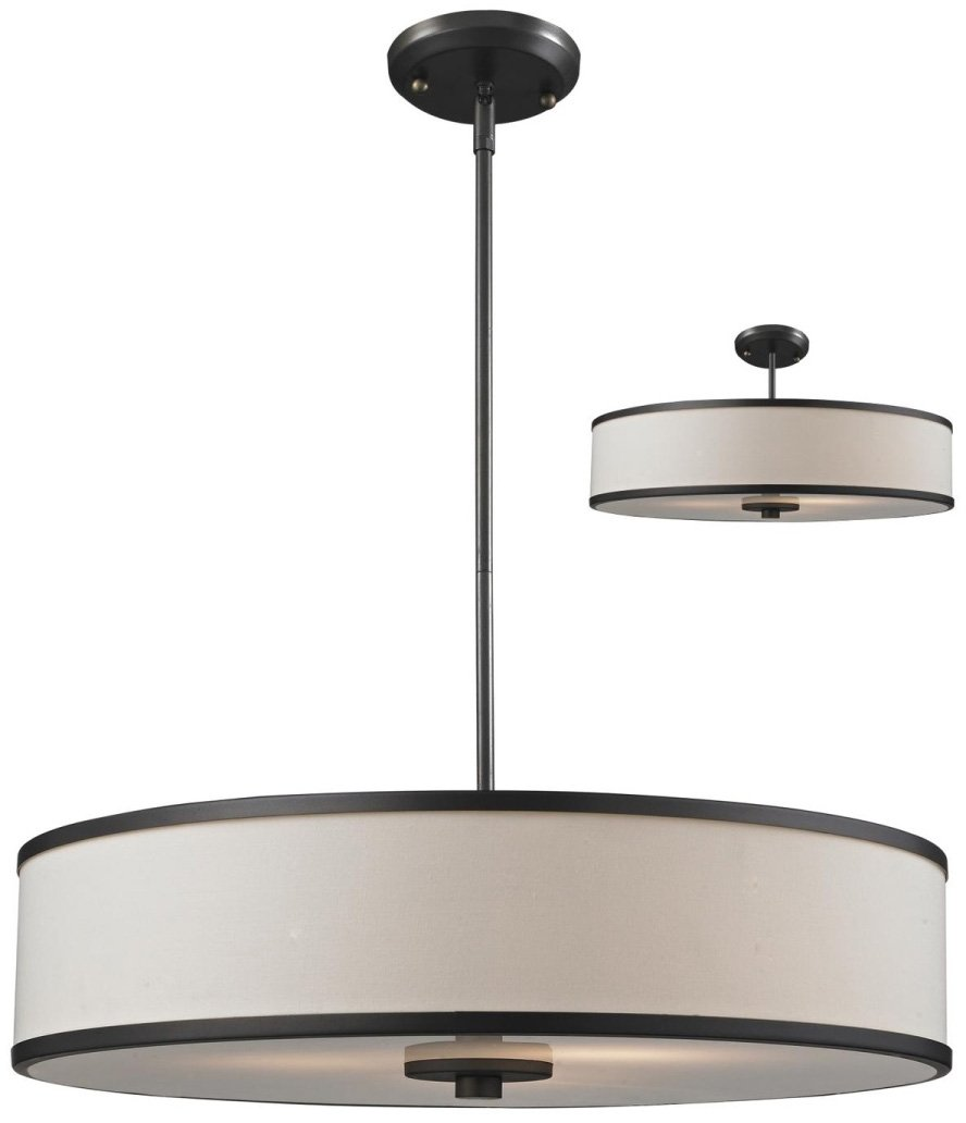 Z lite 165 24 cameo modern contemporary semi flush mount for Semi flush mount lighting modern