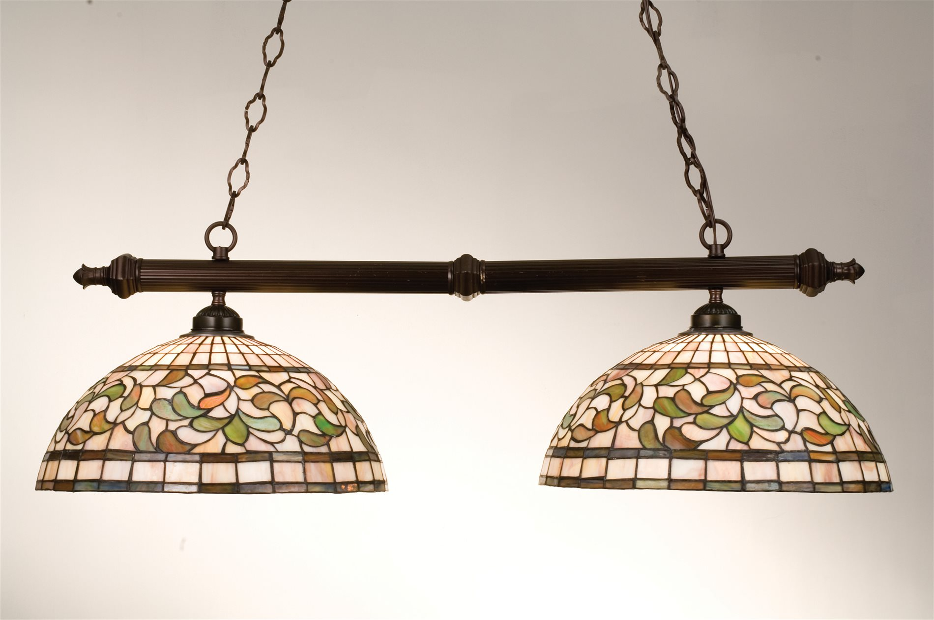 Meyda tiffany 18842 turning leaf traditional kitchen for Traditional kitchen pendant lights