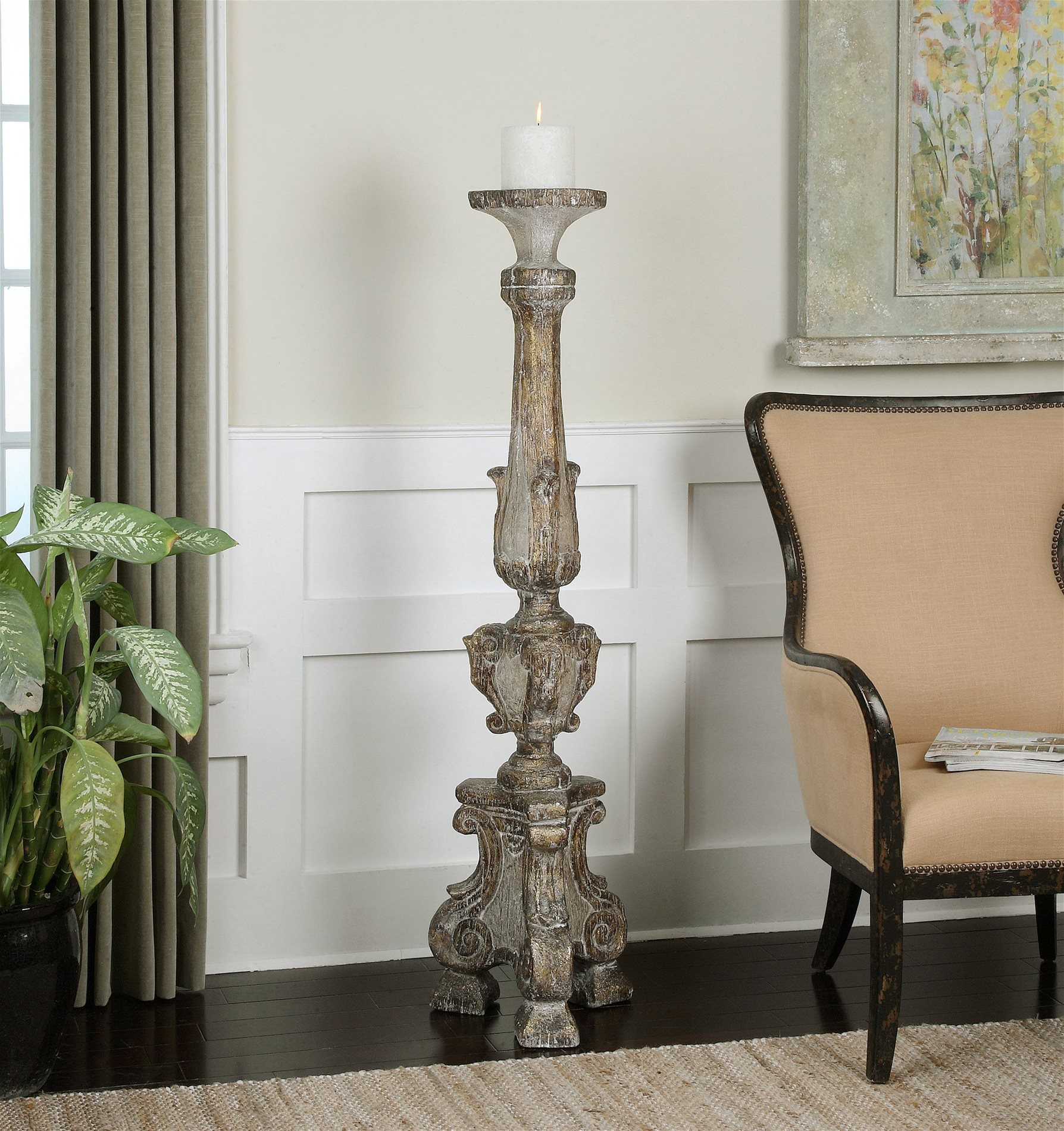 Uttermost 19901 Gillis Floor Candle Holder Um 19901