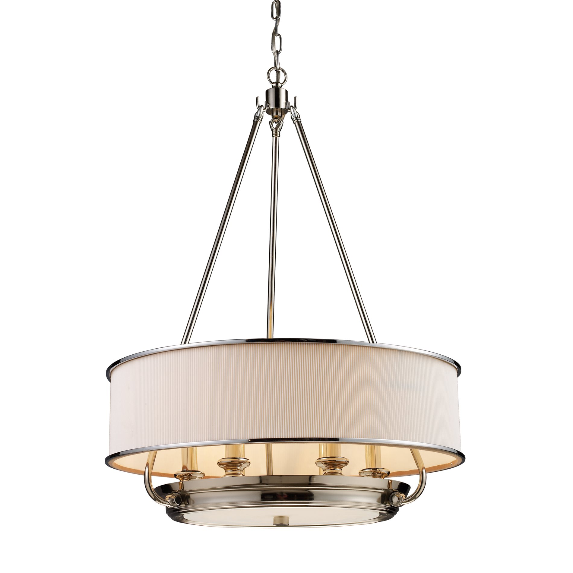 Elk Lighting Fans: Elk Lighting 20063/6 Lureau Transitional Drum Chandelier