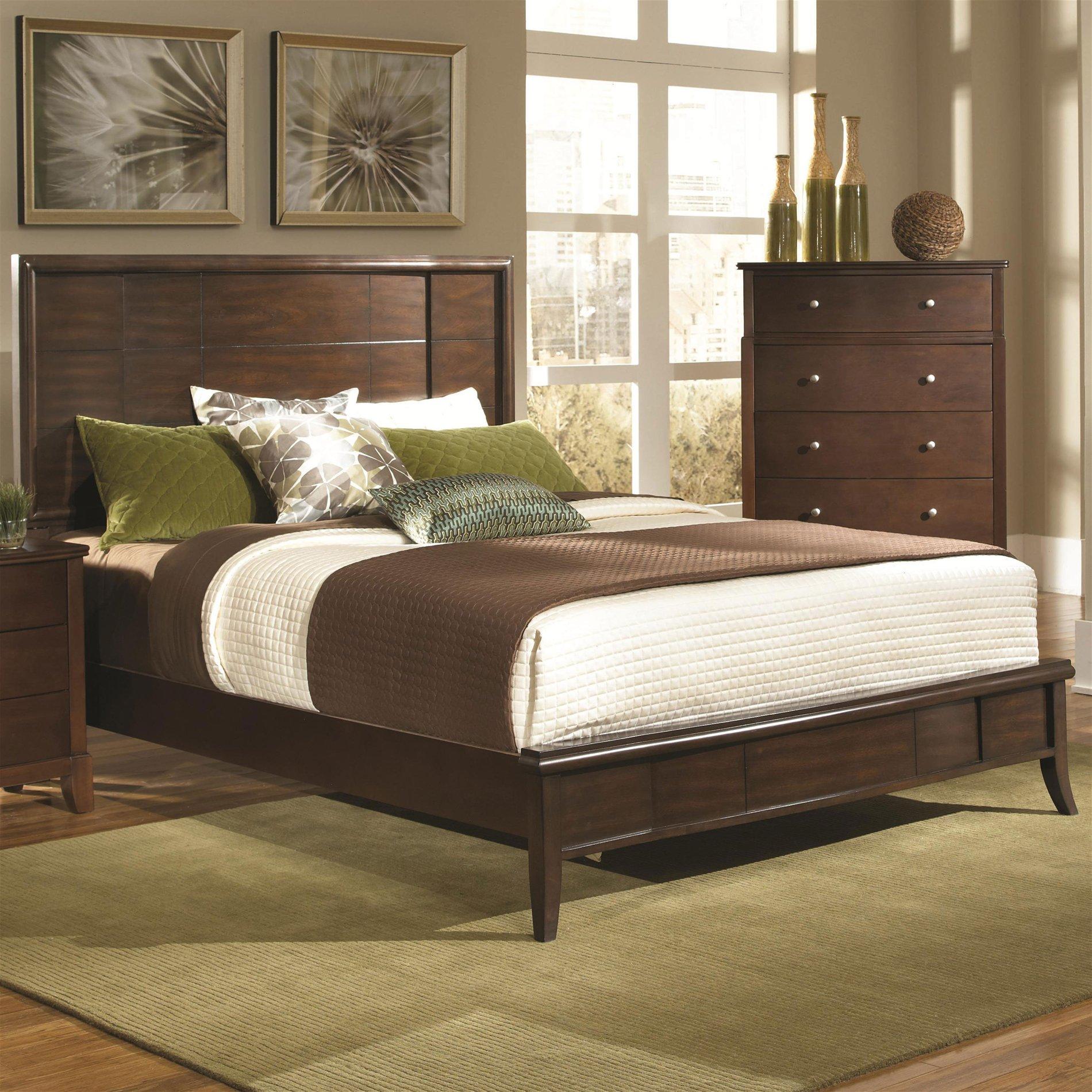 coaster home 202451ke addley king low profile bed with panel headboard coah 202451ke. Black Bedroom Furniture Sets. Home Design Ideas