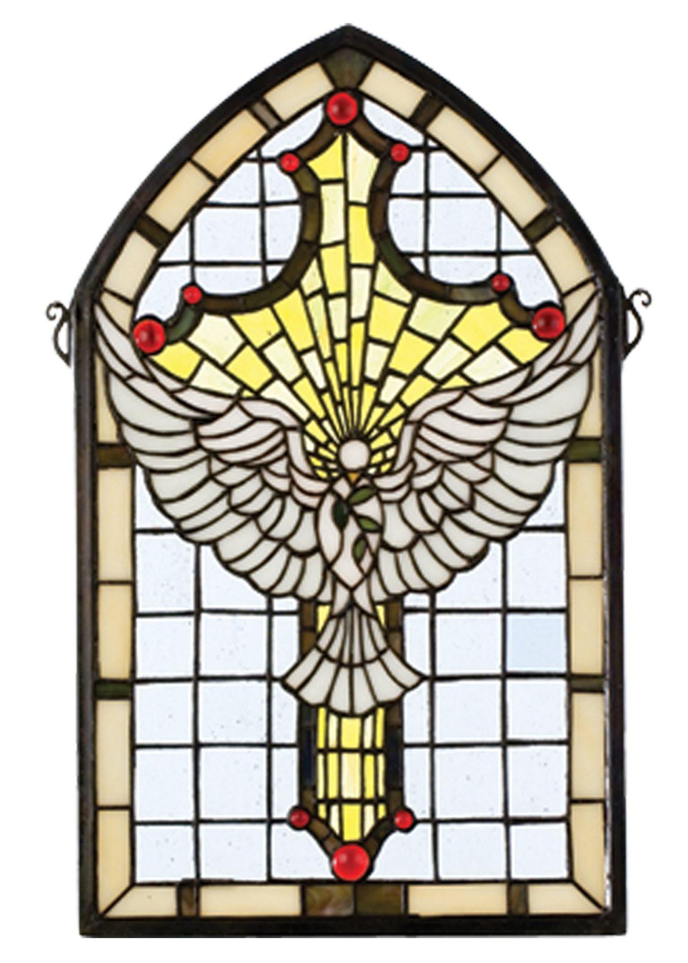 Meyda Tiffany 23249 Dove Cross Stained Glass Tiffany