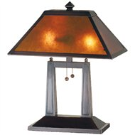 Meyda Tiffany Mission Four Column Mica Transitional Table Lamp   MD 24216