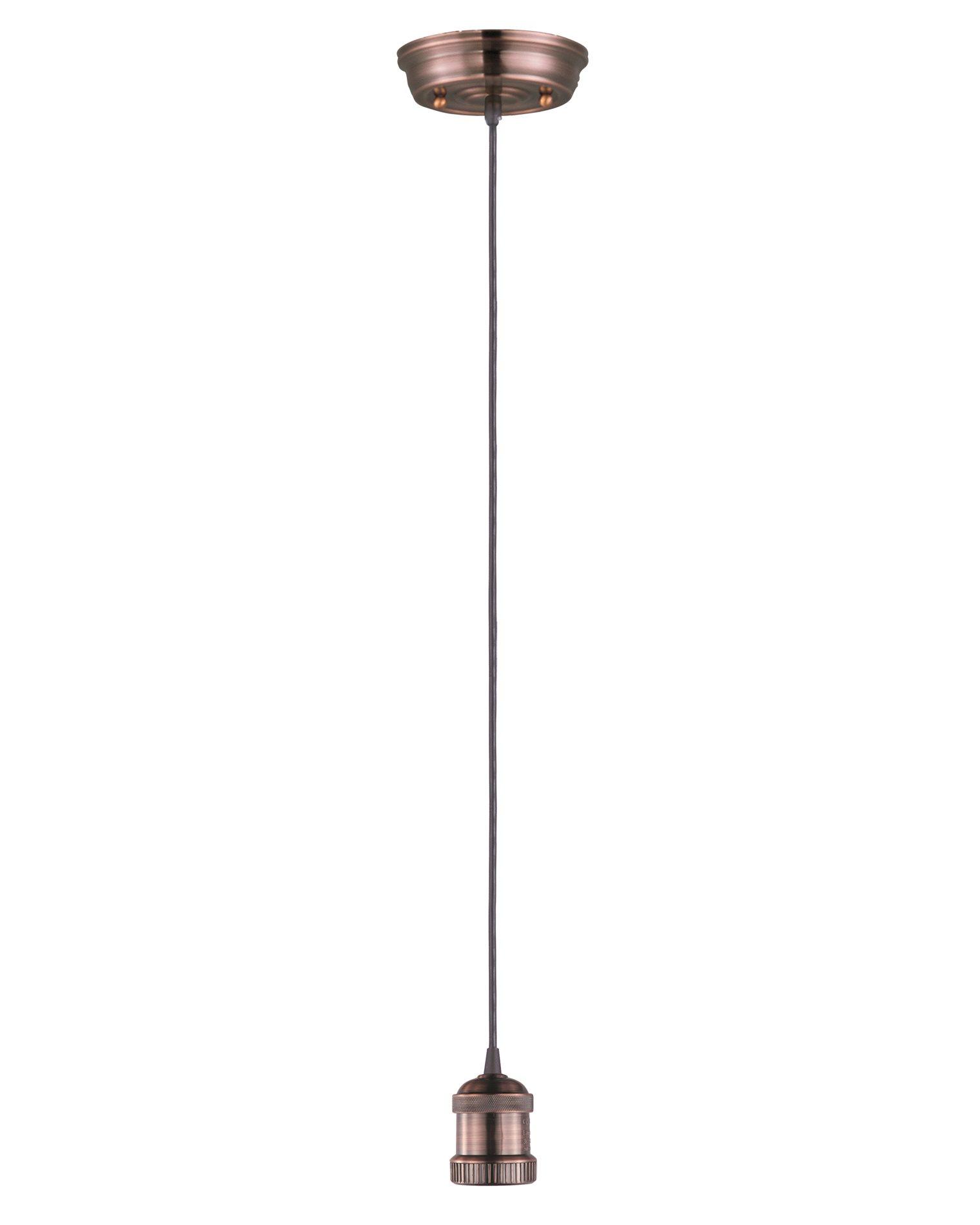 Maxim lighting 25018 mini hi bay mini hi bay 1 light pendant cord acp antique copper bulb not included arubaitofo Image collections
