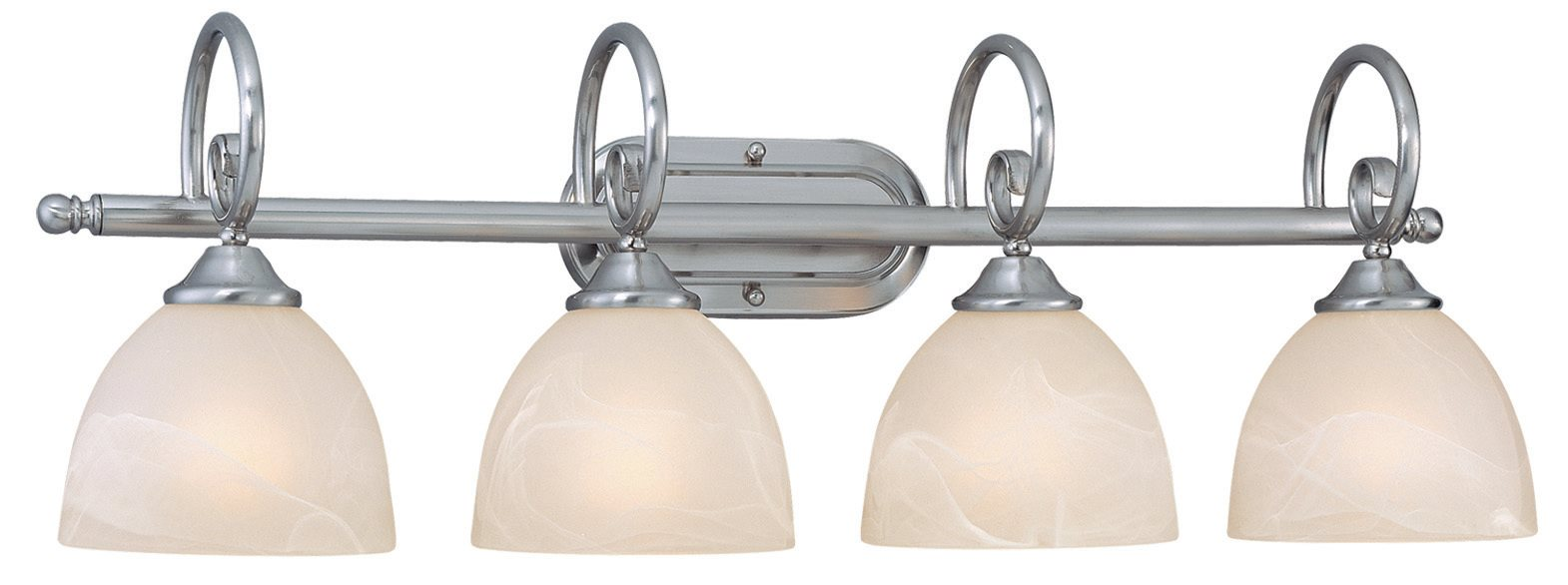 Jeremiah 25304 SN Raleigh Traditional Bathroom Vanity Light CM 25304 SN