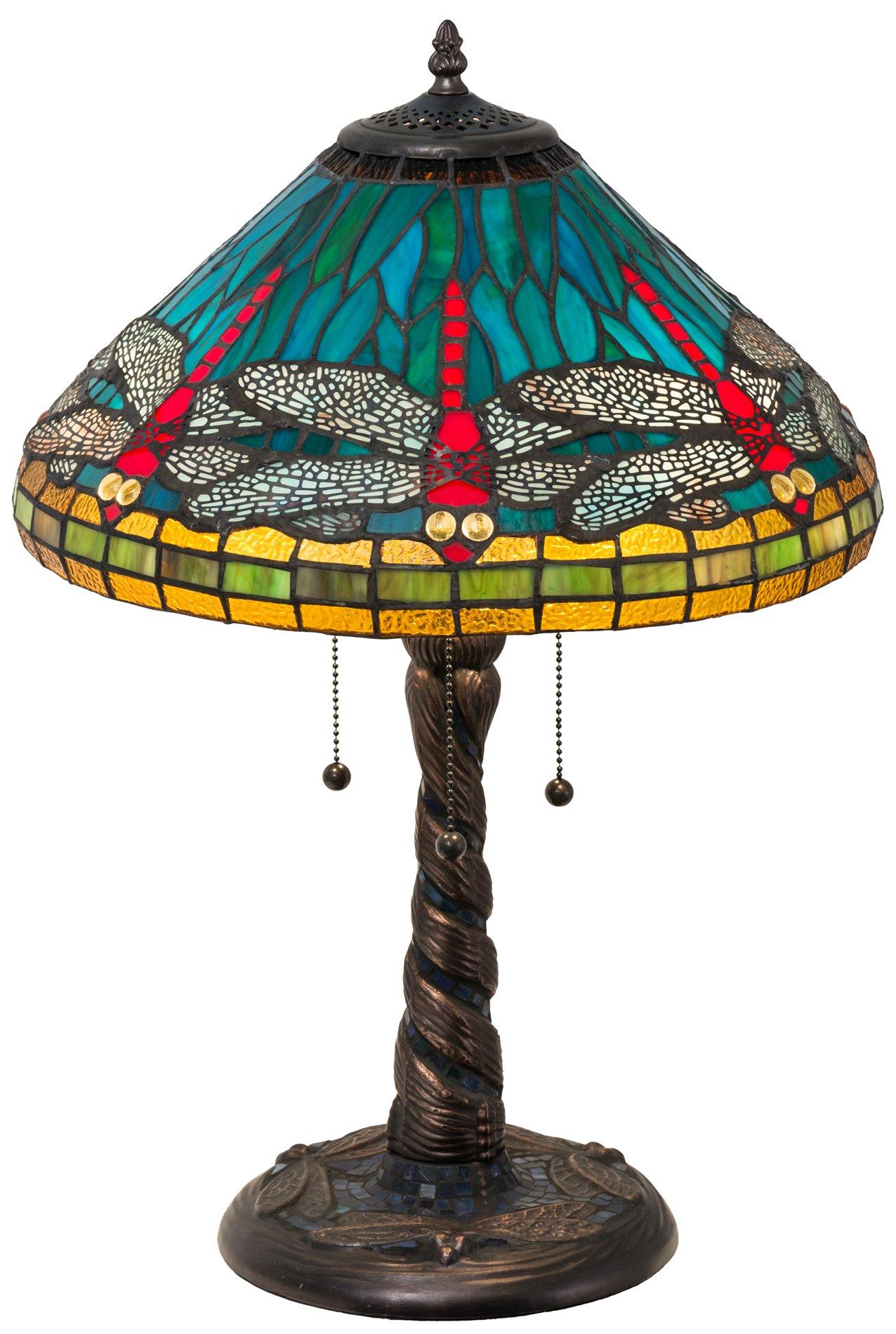 Meyda Tiffany 26682 Mosaic Dragonfly Tiffany Table Lamp Md