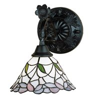 Meyda Tiffany 52134 Classic Wisteria Tiffany Accent Lamp