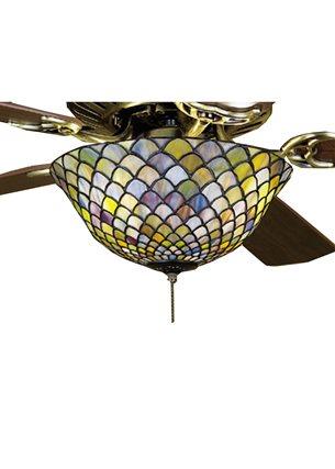 Meyda Tiffany 27451 Fishscale Tiffany Ceiling Fan Light
