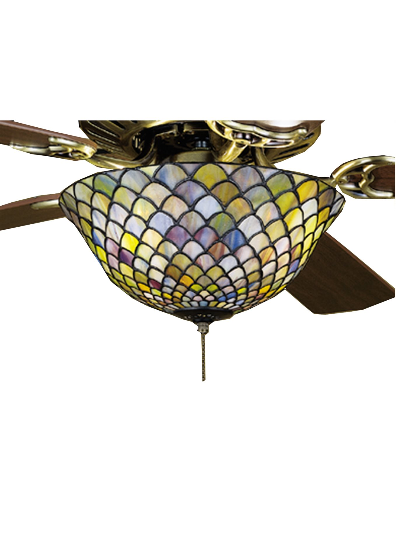 Meyda Tiffany 27451 Fishscale Tiffany Ceiling Fan Light