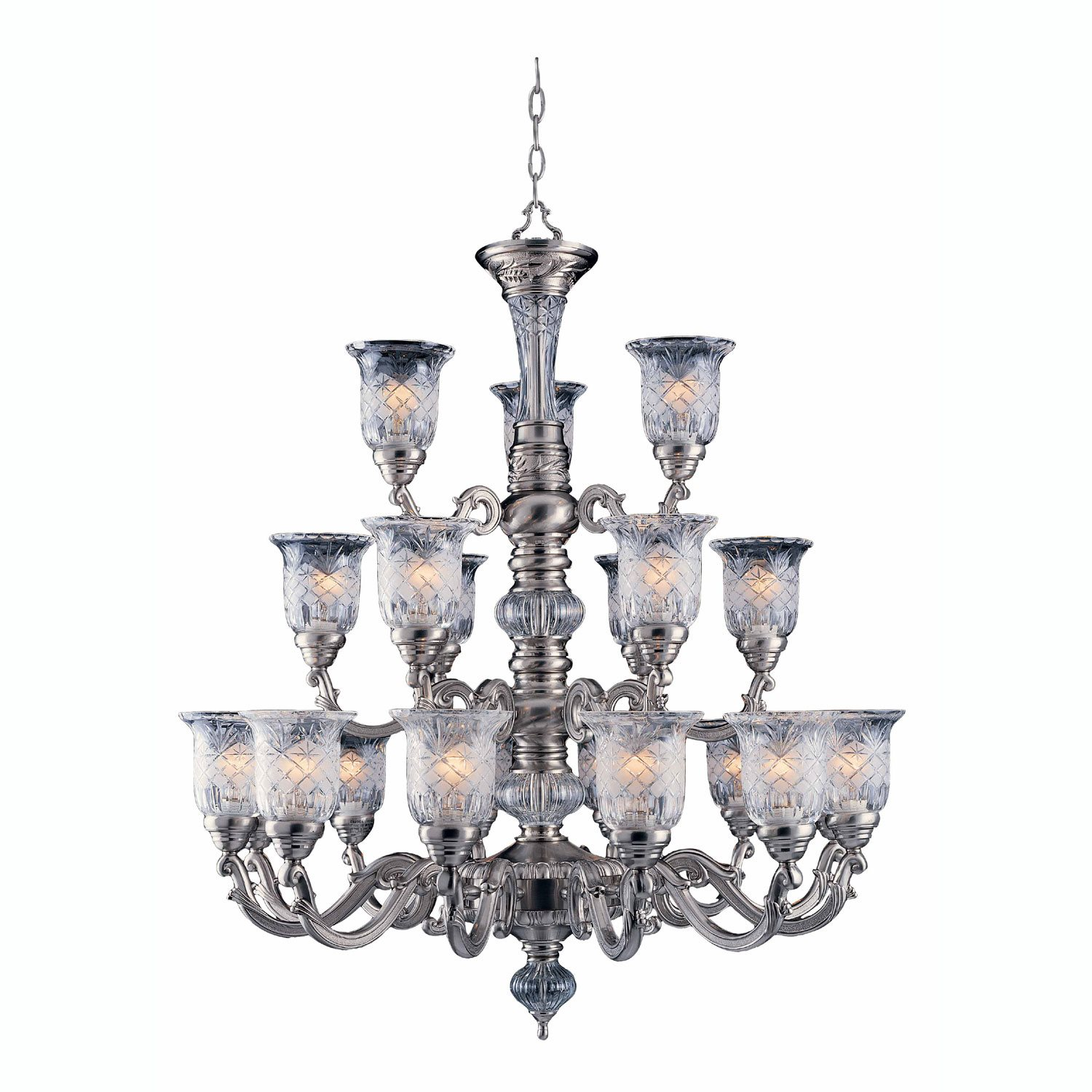 Triarch 29584 pwt crystal ii 21 light chandelier tri 29584 pwt zoom aloadofball Image collections