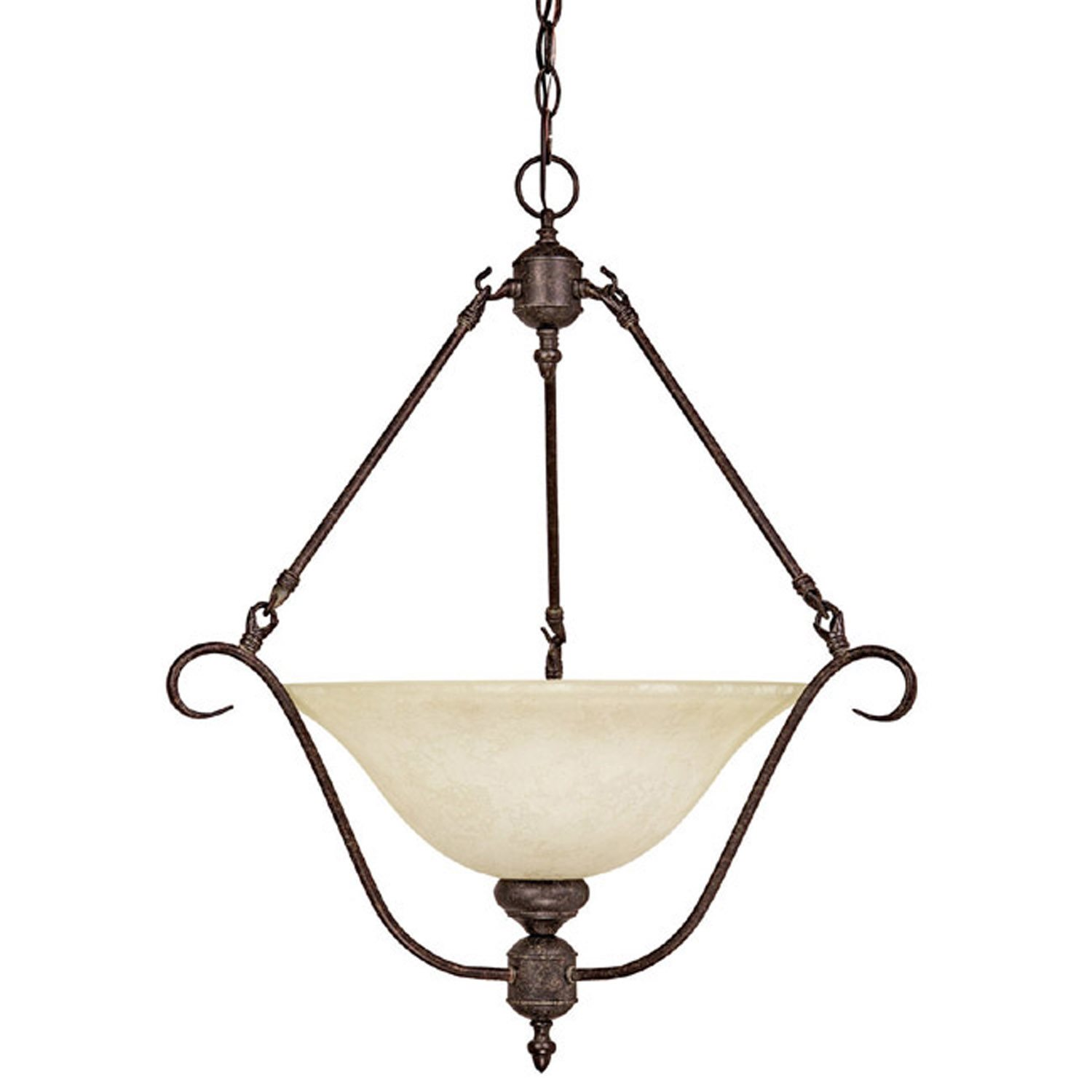 capital lighting 3222ts rs transitional inverted pendant