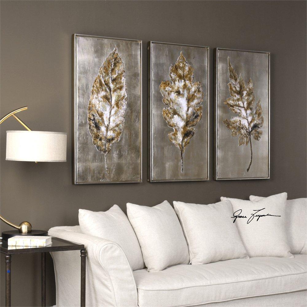 grace feyock 35334 champagne leaves modern wall art um 35334. Black Bedroom Furniture Sets. Home Design Ideas