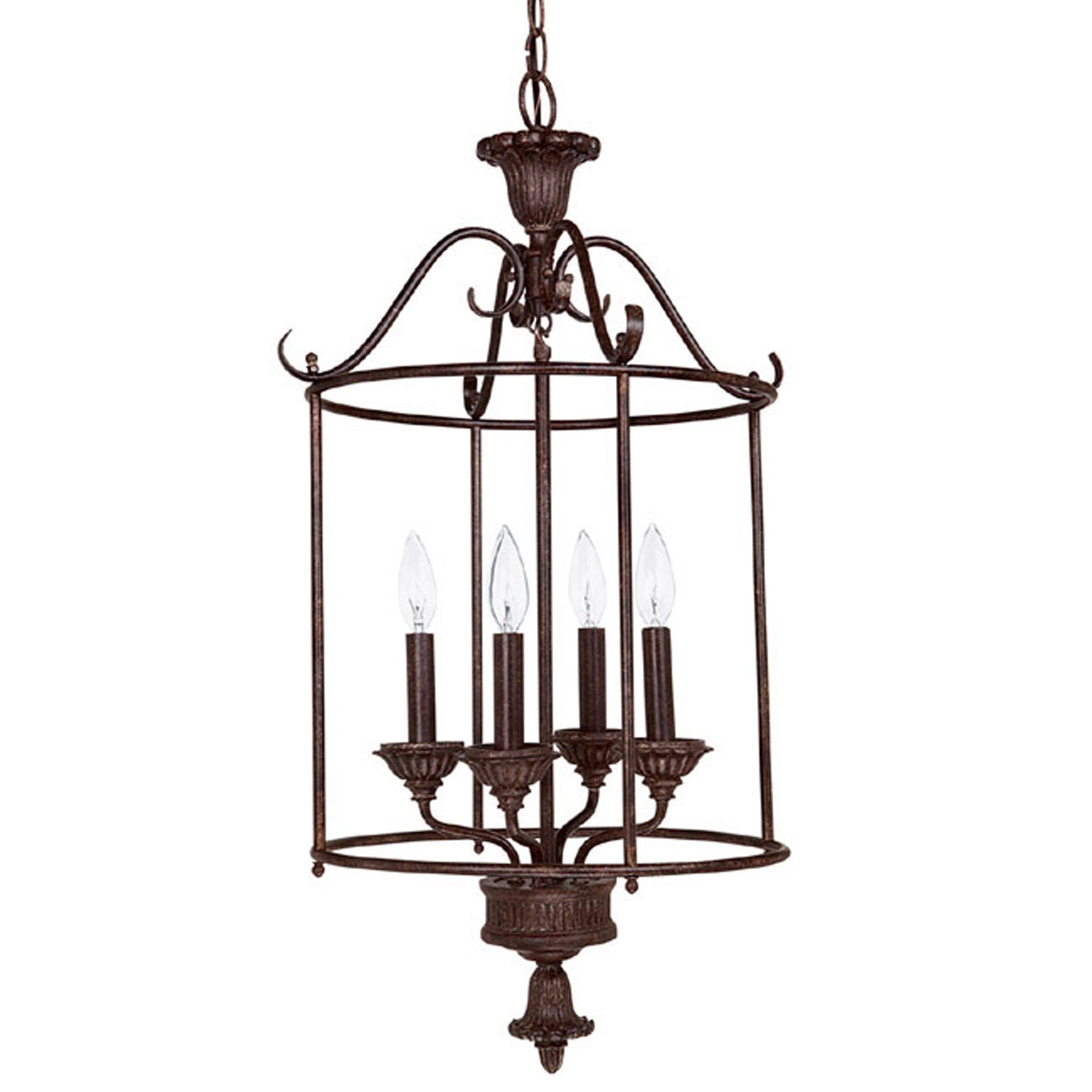 French Country Foyer Chandelier : Capital lighting ts country french traditional foyer