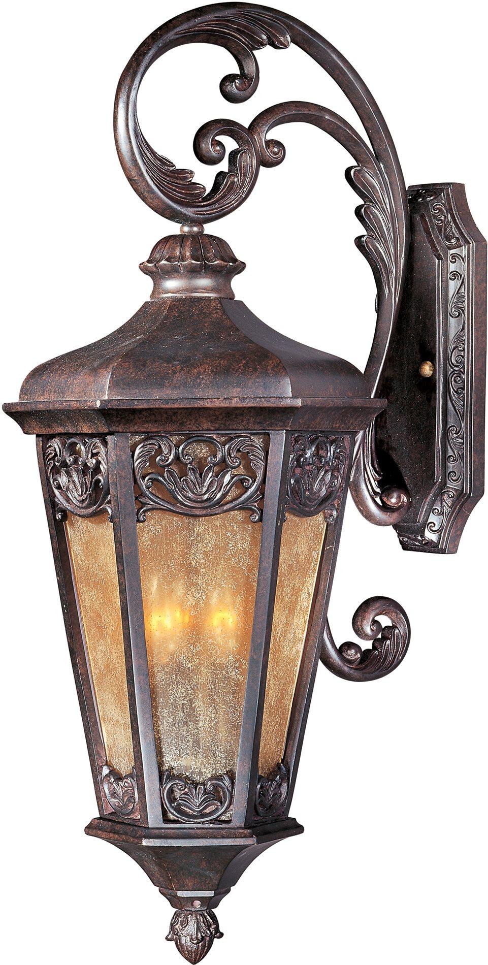 Maxim Lighting 40174nscu Lexington Vx Traditional 3 Light Outdoor Wall Sconce Mx 40174 Ns Cu