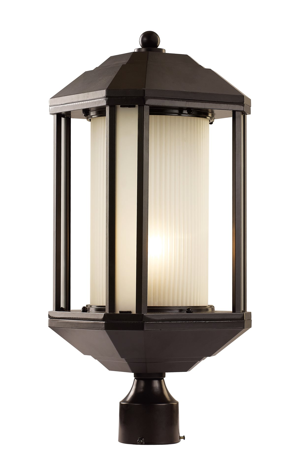 Trans globe lighting 40256 rob downtown trolley modern for Contemporary outdoor post light fixtures