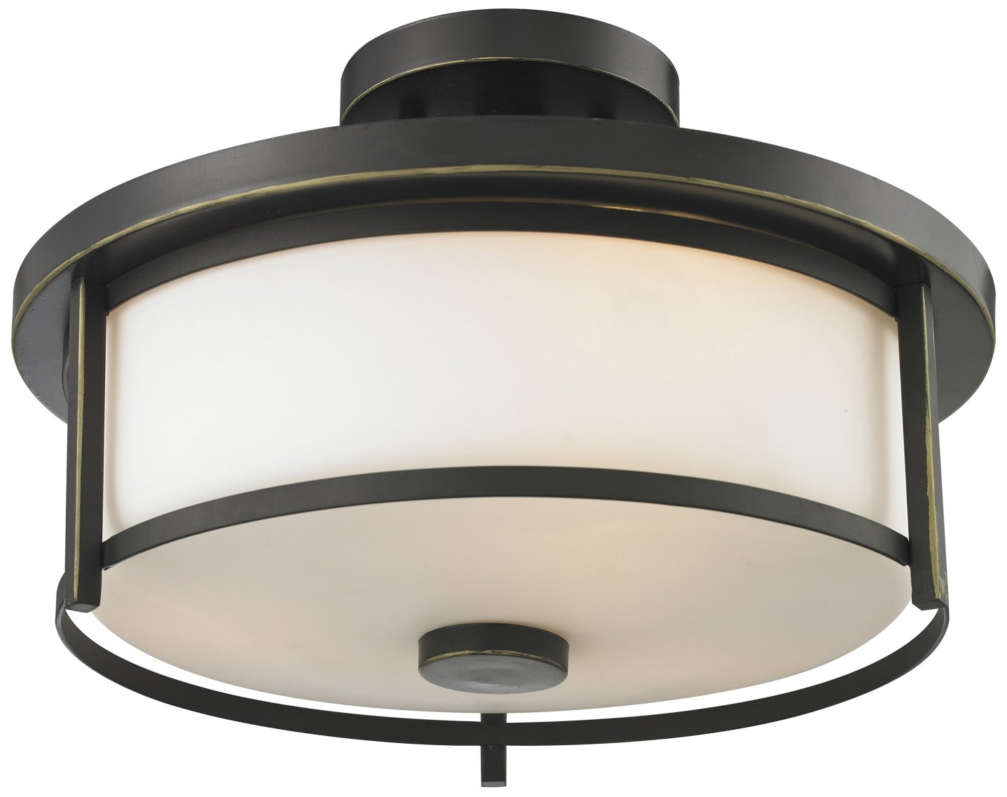 Z lite 413sf14 savannah modern contemporary semi flush for Semi flush mount lighting modern