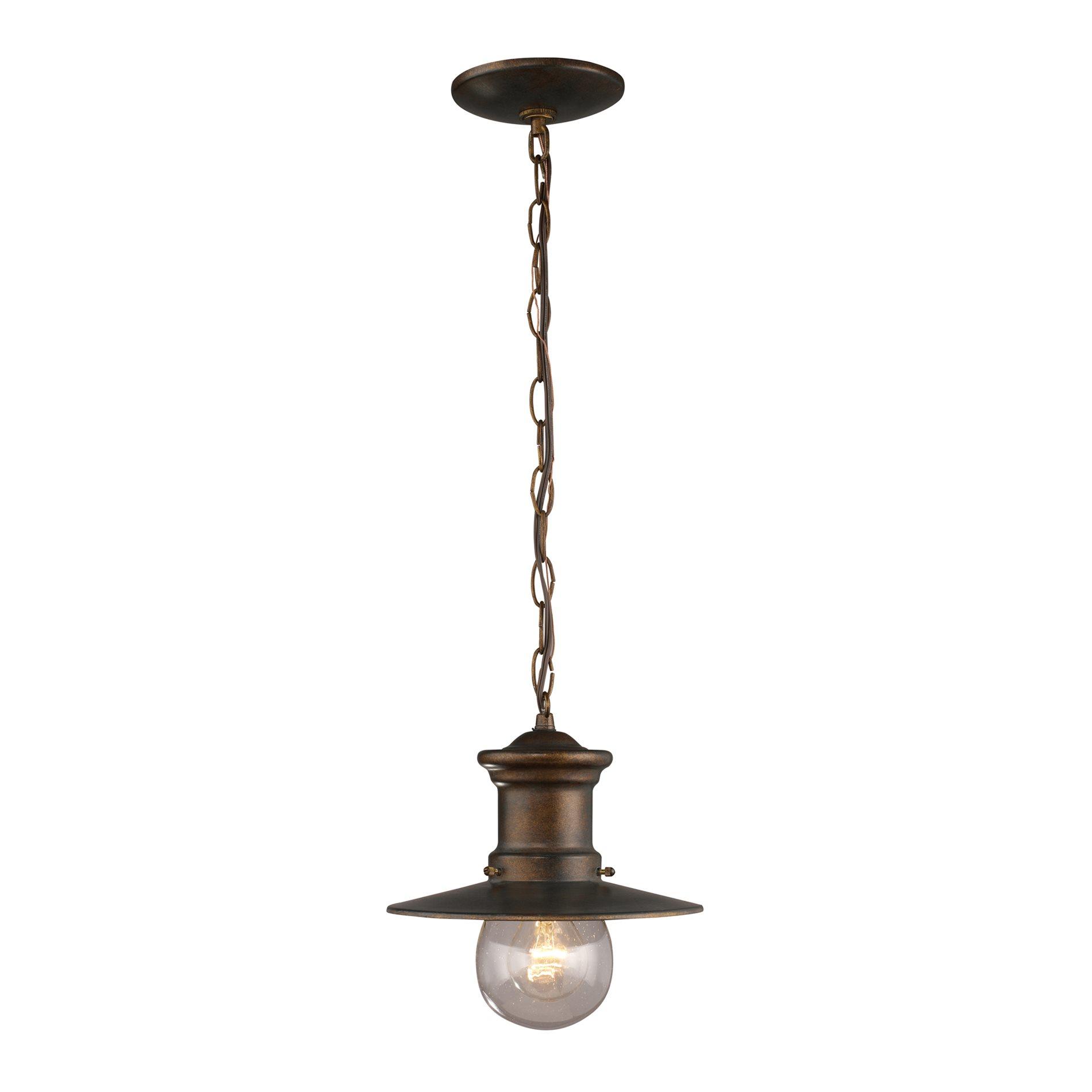Traditional Outdoor Pendant Lighting : Elk lighting maritime traditional outdoor hanging