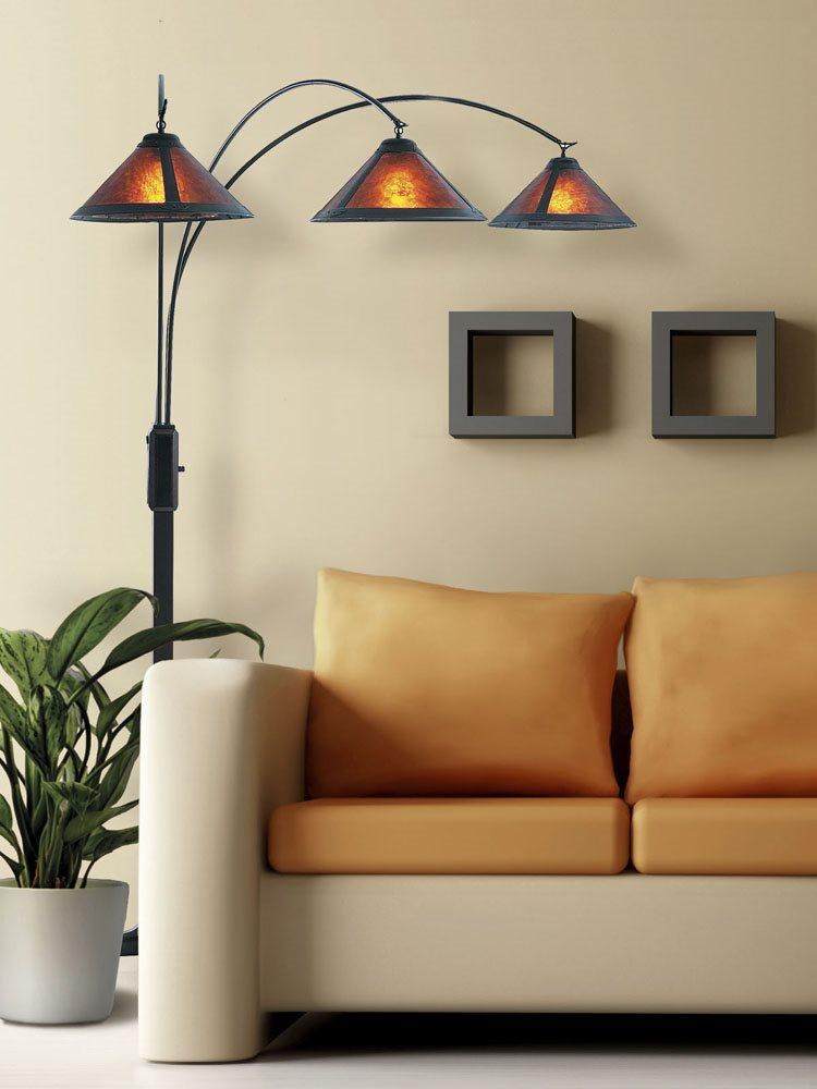 Nova Lighting 4212bz Mica Contemporary 3 Light Arc Floor