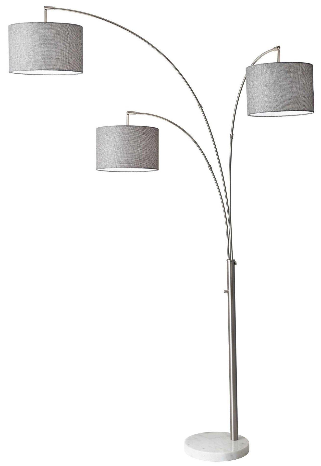 adesso bowery 3 arm modern contemporary arc floor lamp ad 4250 22. Black Bedroom Furniture Sets. Home Design Ideas