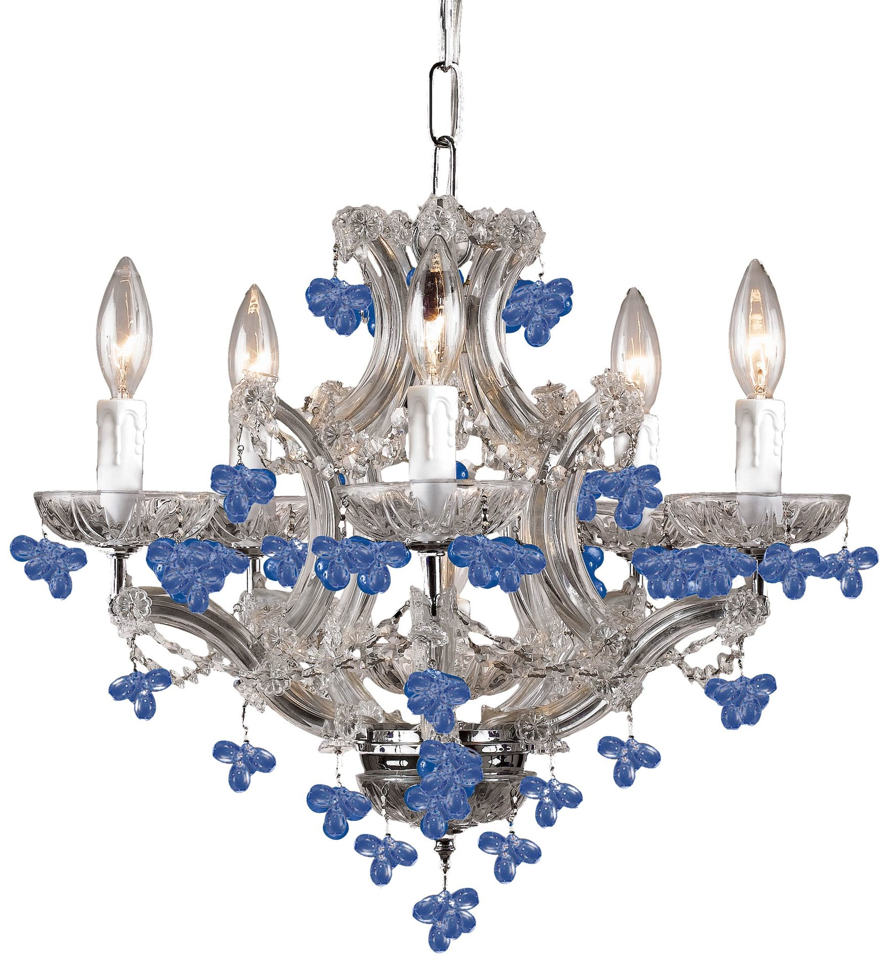 Crystorama 4305 Ch Blue Hot Deal Traditional Chandelier