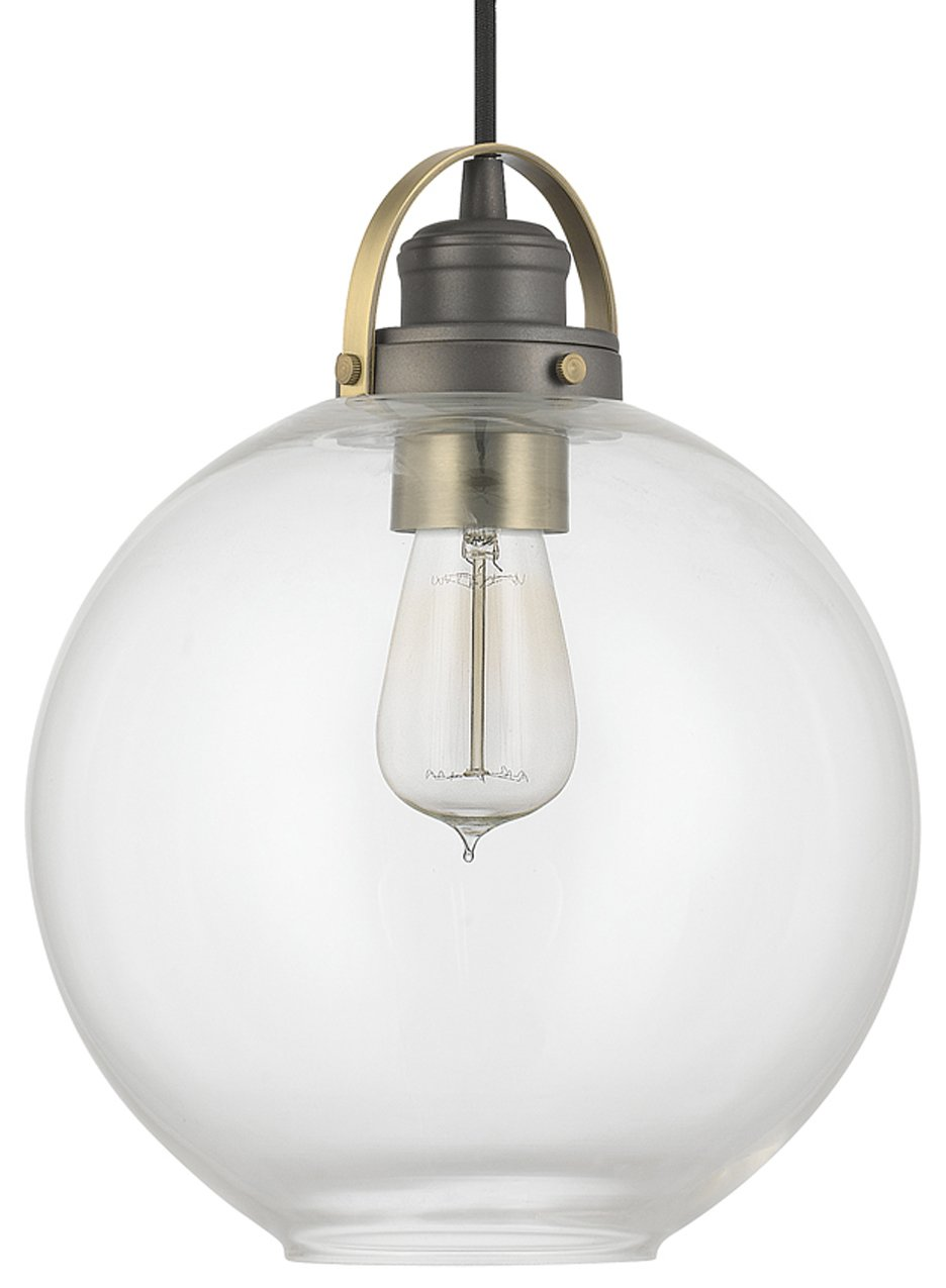 capital lighting 4641ga 136 transitional pendant light cp