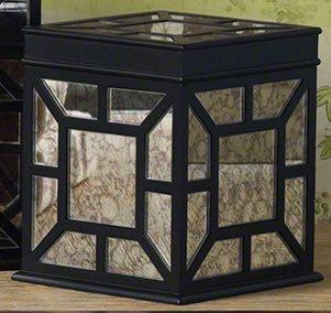 Azla black modern contemporary box small xvlg 12108 4 for Home decor 80121