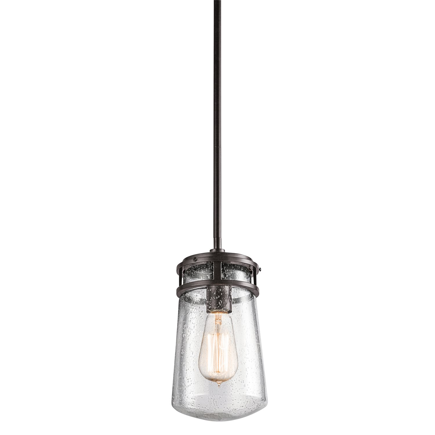 Kichler lighting 49447az lyndon rustic lodge log cabin Outdoor pendant lighting