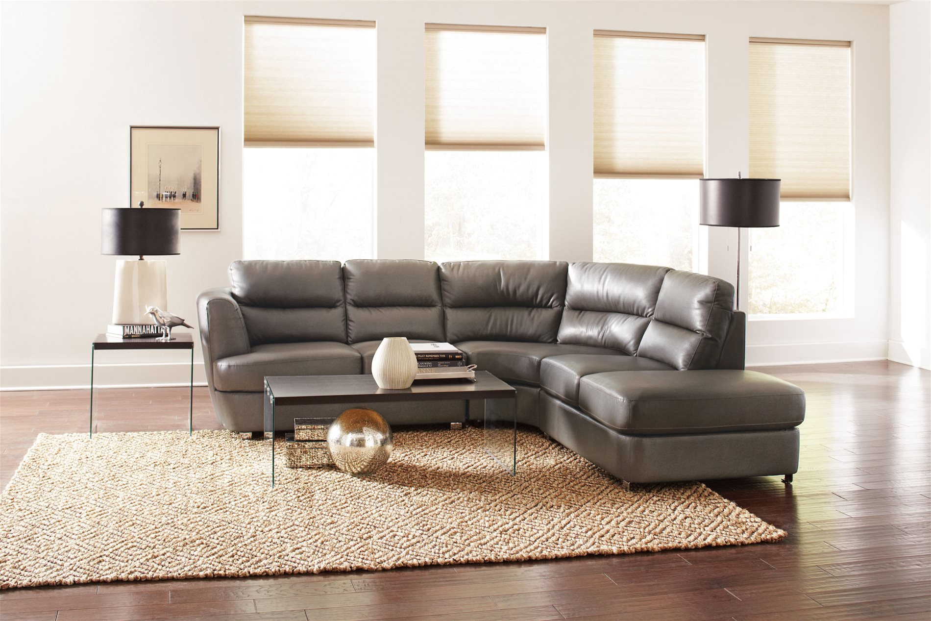 Coaster home 500036 chaisson contemporary bonded leather for Bonded leather sectional with chaise