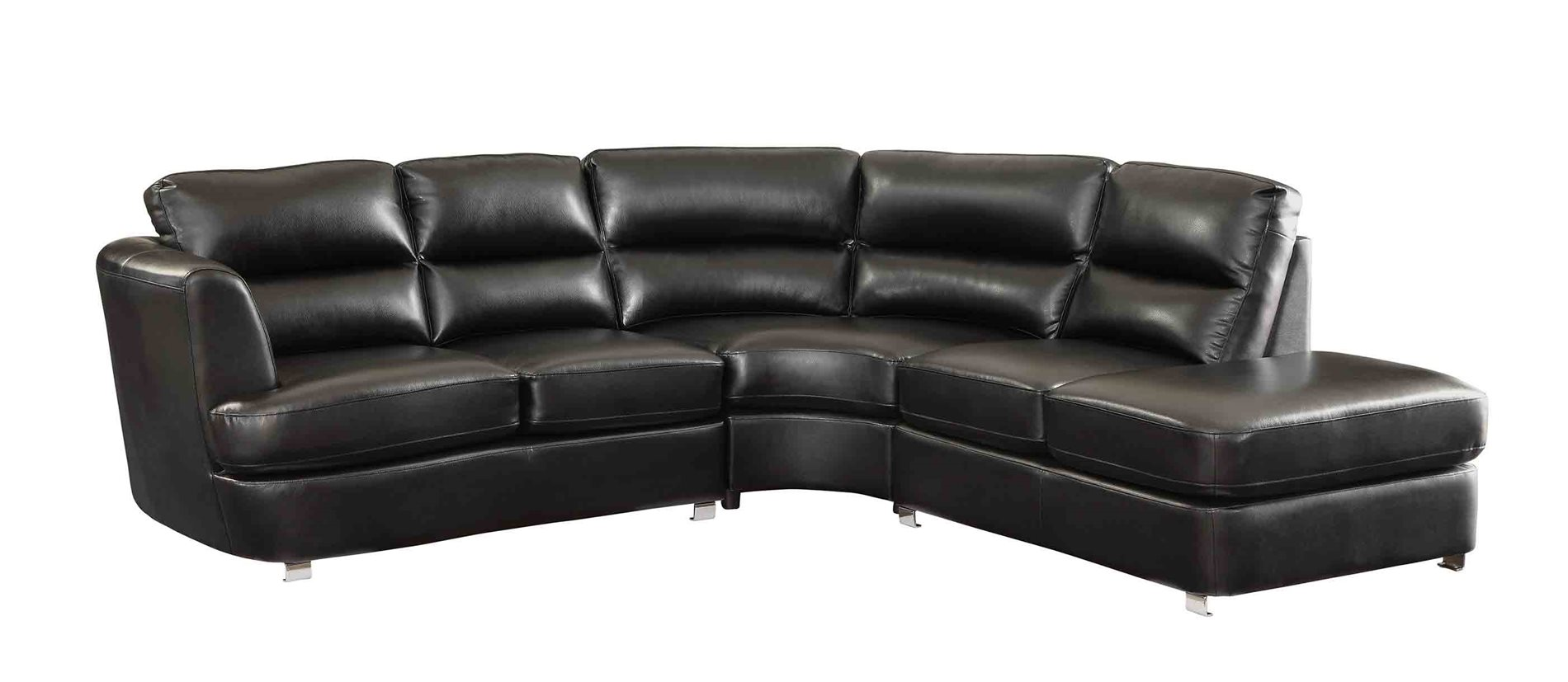 Coaster home 500079 chaisson contemporary bonded leather for Bonded leather sectional with chaise