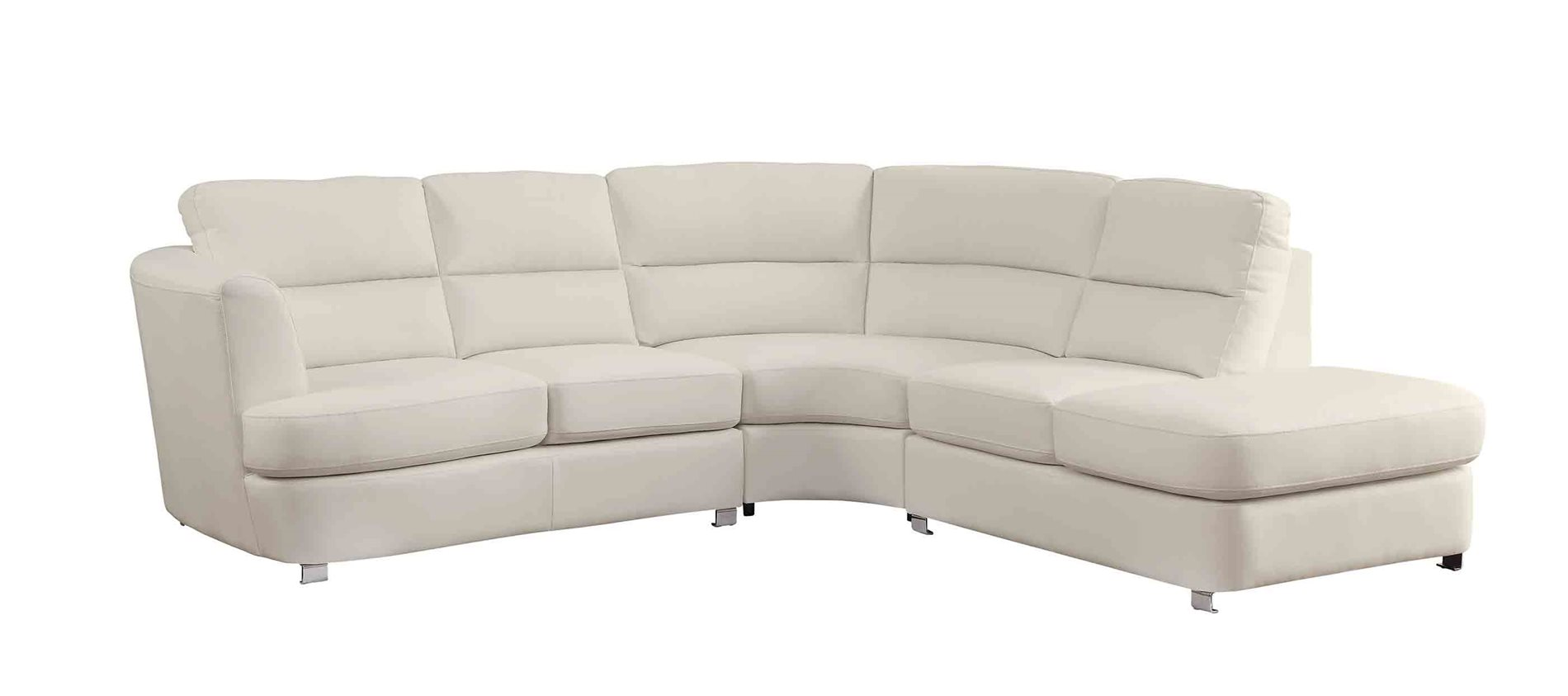 Coaster home 500080 chaisson contemporary bonded leather for Bonded leather sectional sofa with chaise