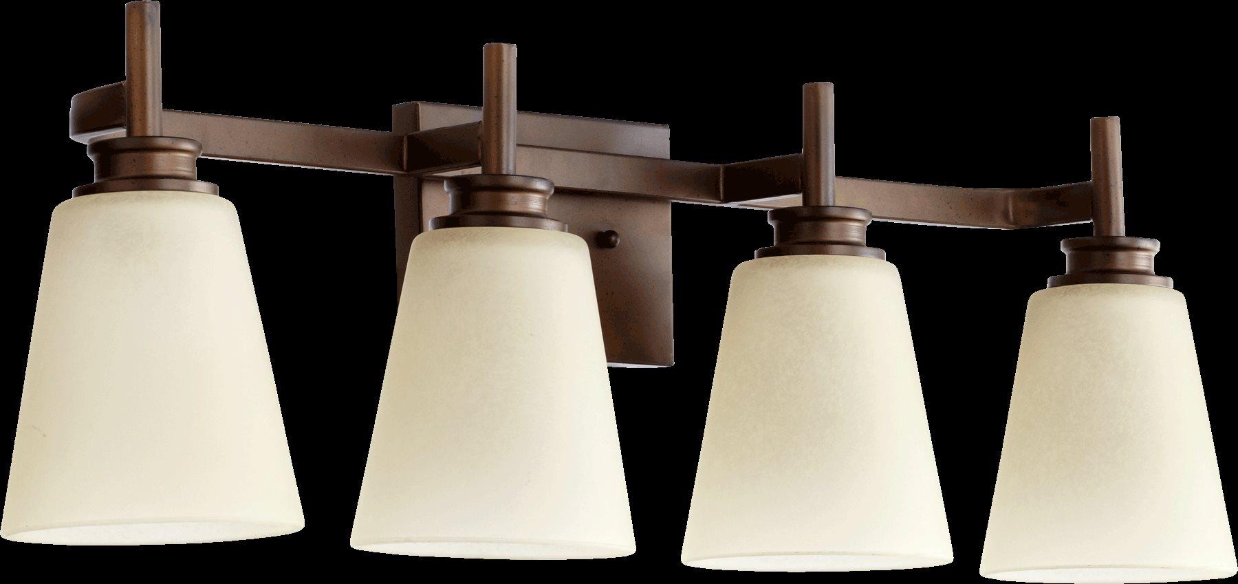 Yosemite Home Decor Vanity Lighting Family 4 Light Chrome: Quorum Lighting 5002-4-86 Friedman Modern / Contemporary