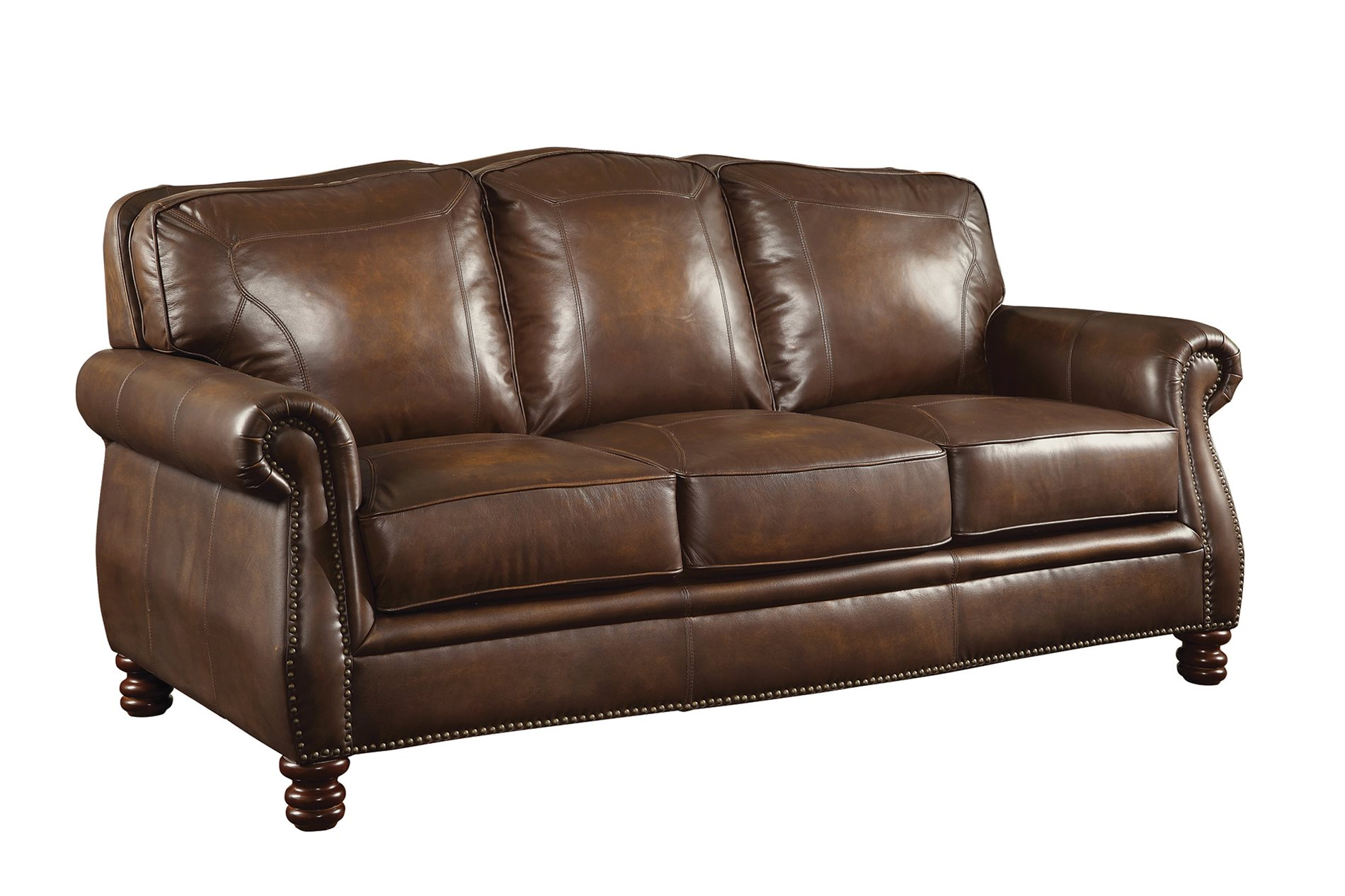 Coaster home 503981 montbrook traditional sofa with rolled for Traditional leather sectional sofa