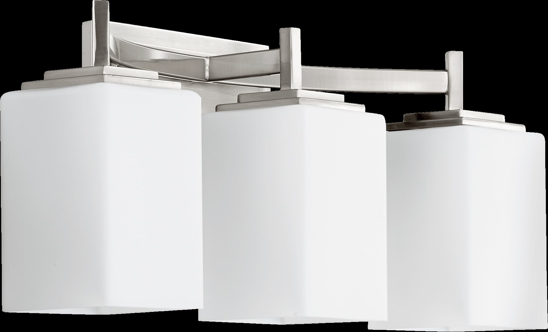 Delta Bathroom Vanity Lights : Quorum Lighting 5084-3-65 Delta Modern / Contemporary Bathroom / Vanity Light QR-5084-3-65