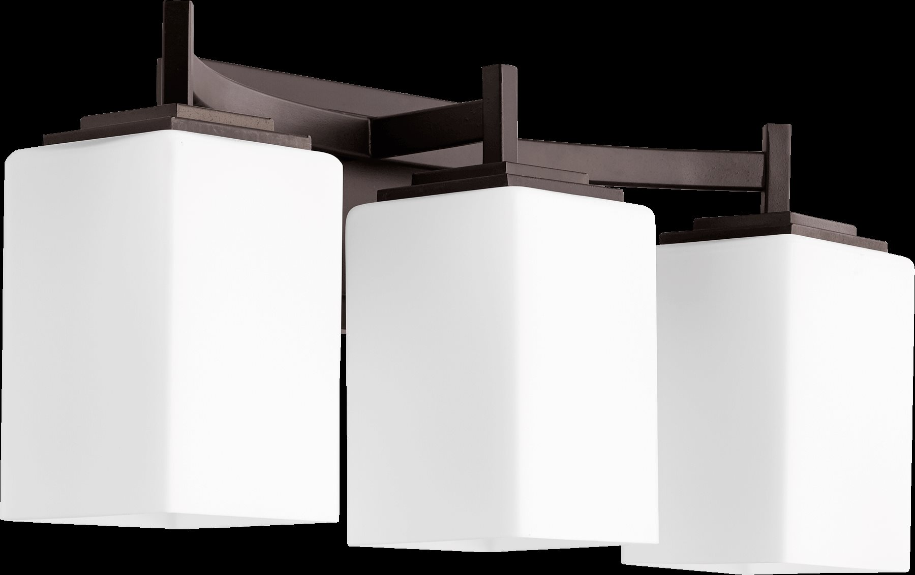 Quorum Lighting 5084-3-86 Delta Modern / Contemporary Bathroom / Vanity Light QR-5084-3-86
