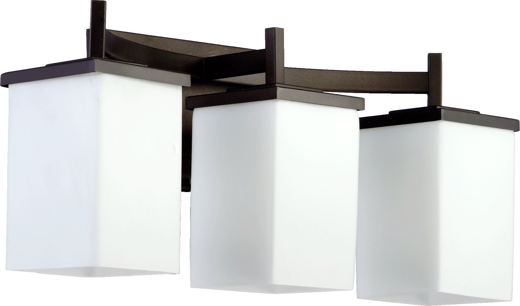 Delta Bathroom Vanity Lights : Quorum Lighting 5084-3-86 Delta Modern / Contemporary Bathroom / Vanity Light QR-5084-3-86